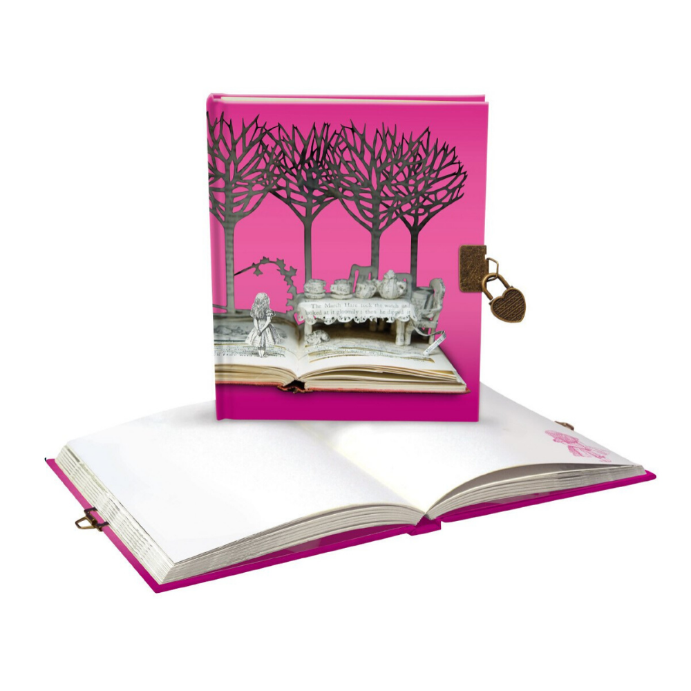 Alice: A Mad Tea Party Lockable Journal