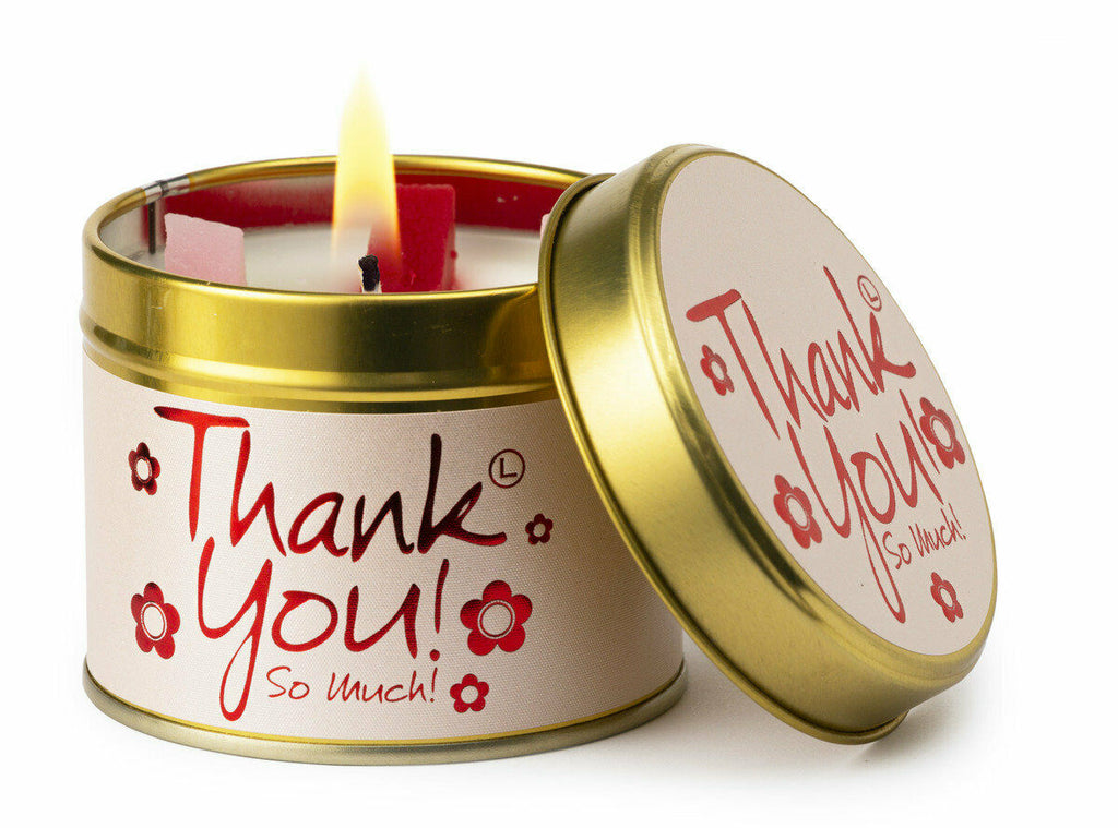 Lily Flame Thank You Scented Tin Candle