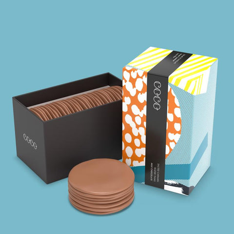 COCO Salted Caramel Milk Chocolate Wafer Thins