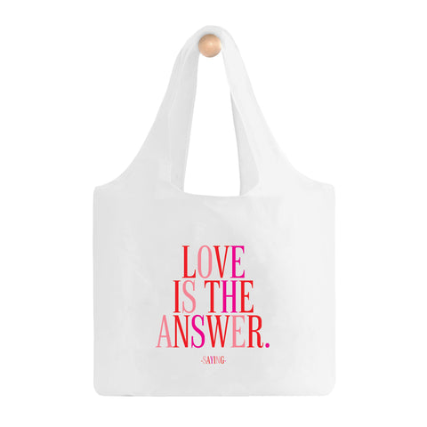 Love Is The Answer Fold-Up Bag