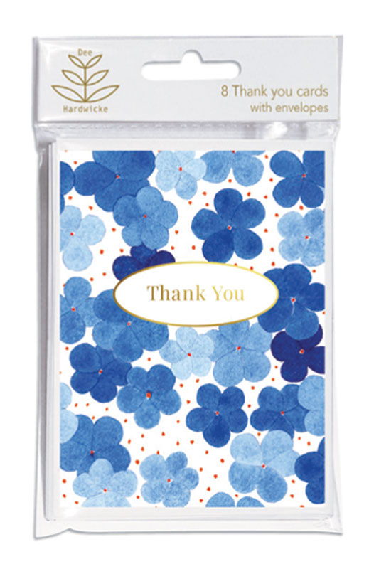 Blue Hydrangea Thank You Cards