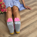 It's My Birthday Socks - Pink Stripes