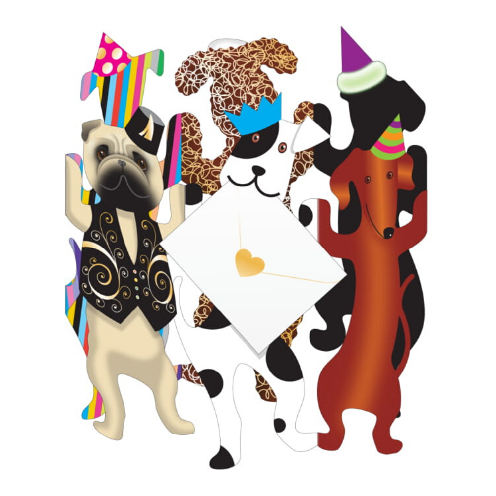 Party Dogs 3D Stand Up Card