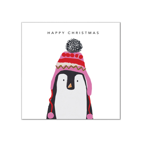 Penguin In Hat Mini Christmas Card 5 Pack