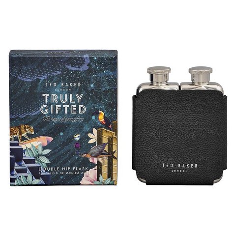 Ted Baker Black Double Hip Flask