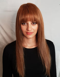 Summer Gold Clip In Bangs/Fringes