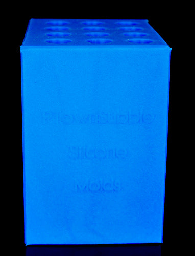 12 Blank Vertical Mold - Blue