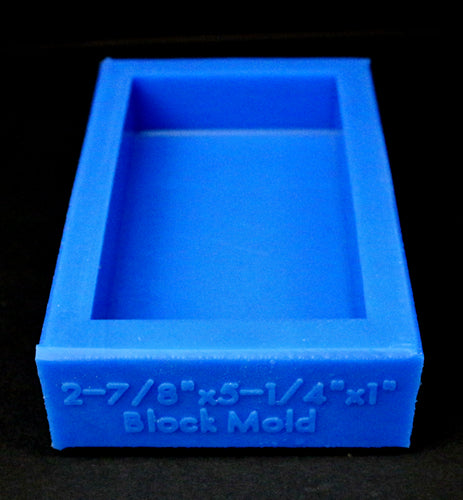 "2-7/8"" x 5-1/4"" x 1"" Block Mold - Blue"