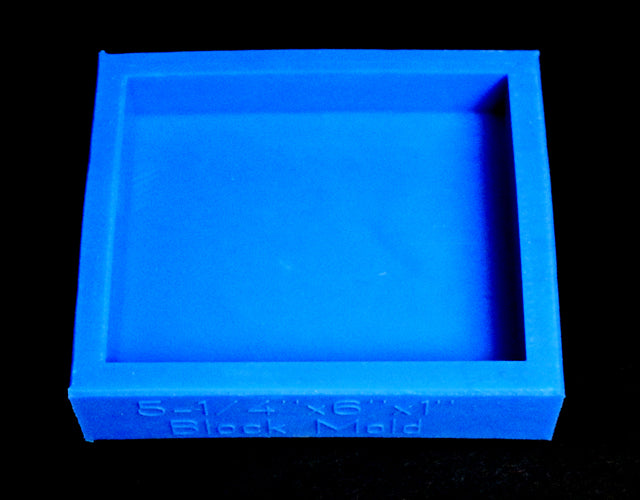 "6"" x 5-1/4"" x 1"" Block Mold - Blue"
