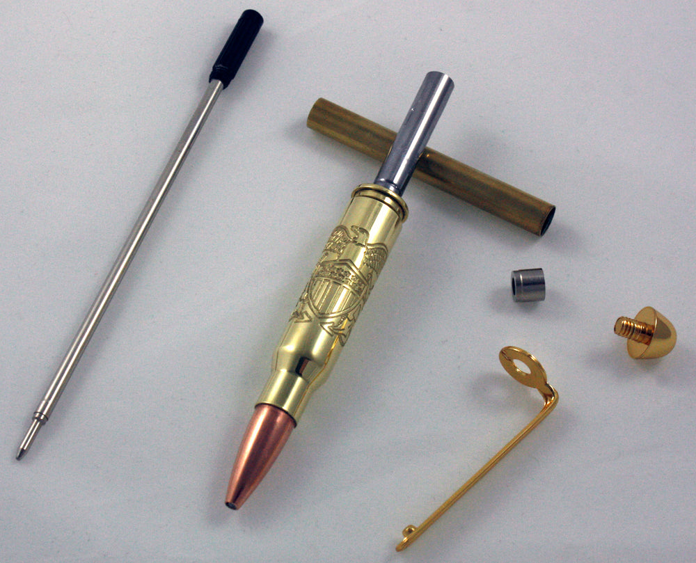 CNC Navy Officer Crest Pen Kits