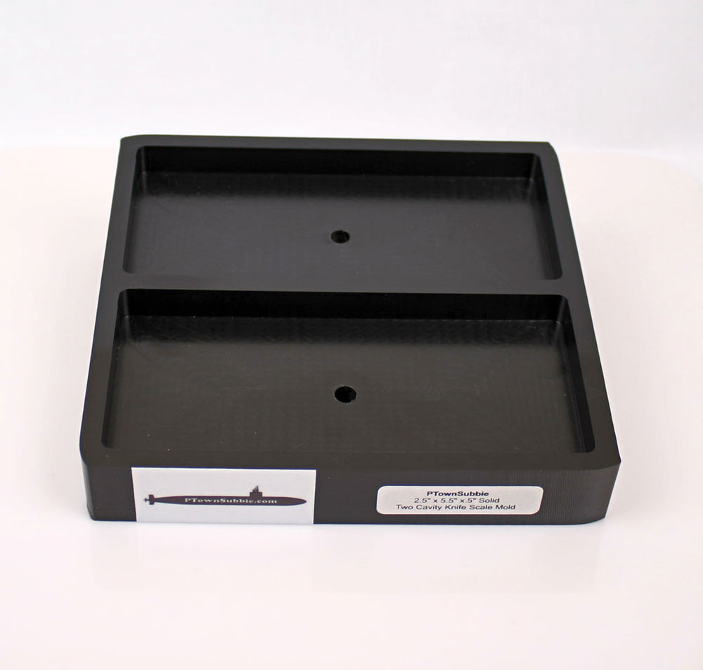 HDPE 2 Cavity Knife Scales Mold - Solid