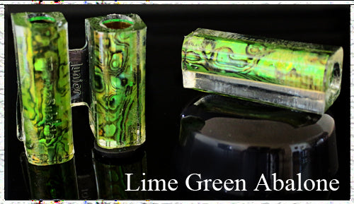 Lime Green Paua Abalone Pen Blank - Junior Aaron