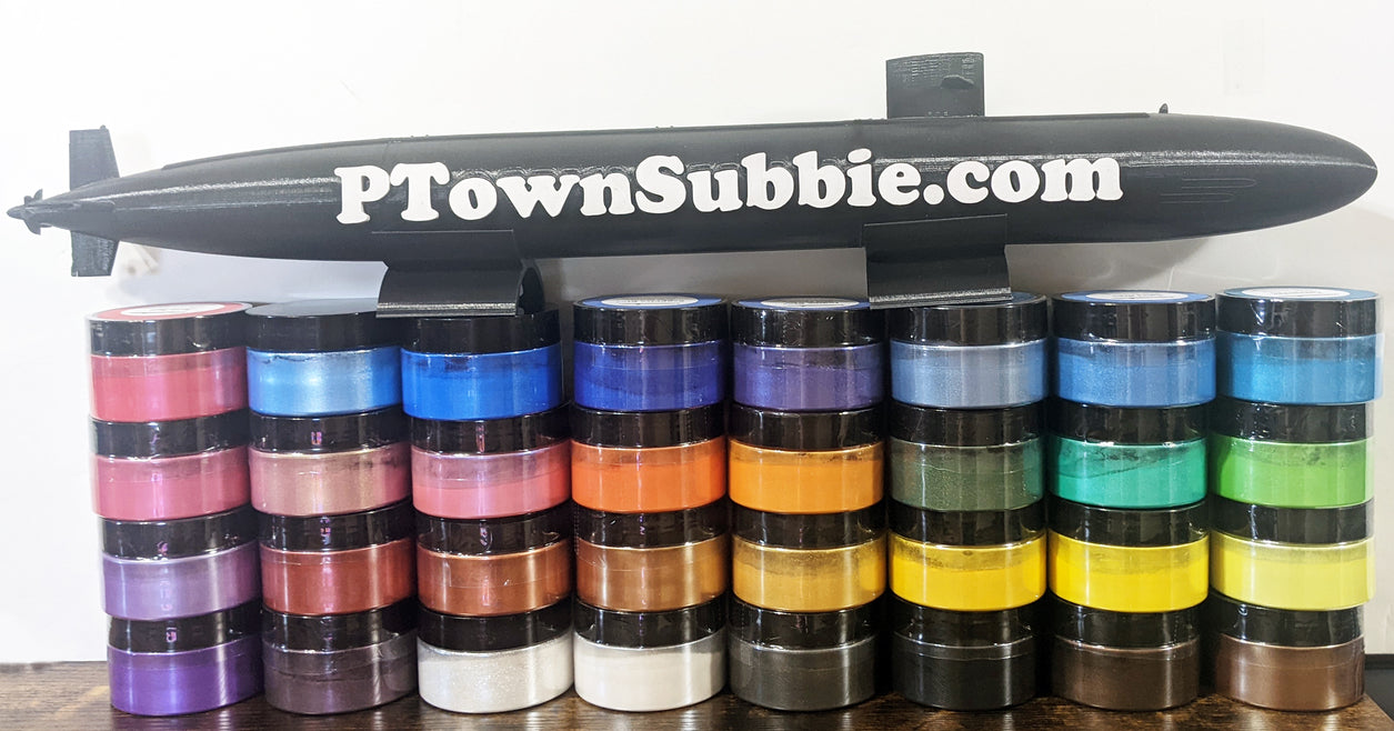 PTownSubbie Mica Powders - OOEC Complete Set of 32 Colors (1 Ounce Each)