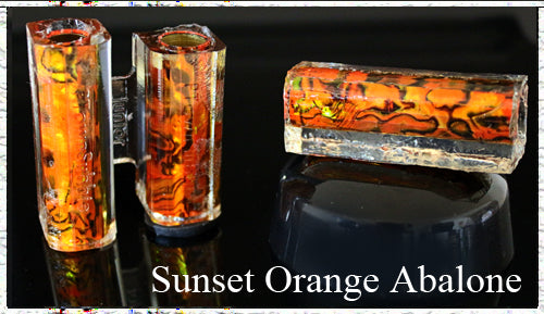Sunset Orange Sierra Paua Abalone Pen Blank
