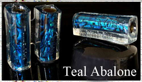 Teal Paua Abalone Pen Blank - Junior Aaron