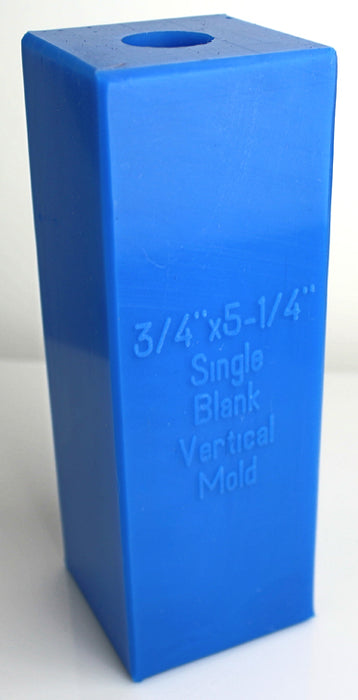 "3/4"" Round x 5-1/4"" Single Blank Vertical Mold - Blue"