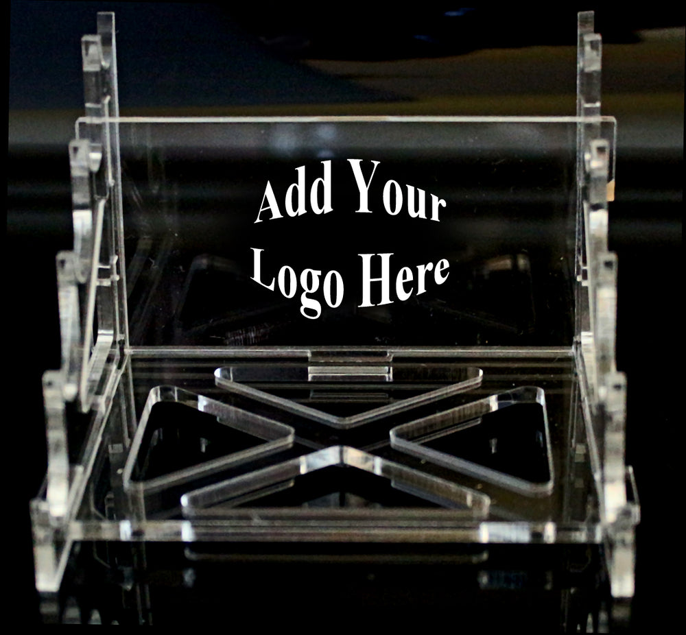 5 Pen Acrylic Display Stand w/ Vector Image Ready Logo