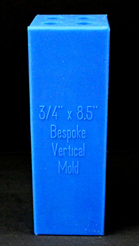 4 Blank Vertical Bespoke Mold - Blue