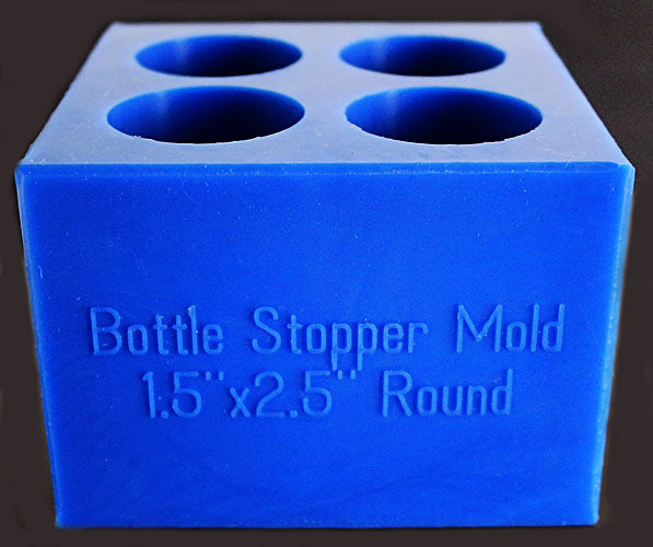 4 Bottle Stoppers - Small - Blue