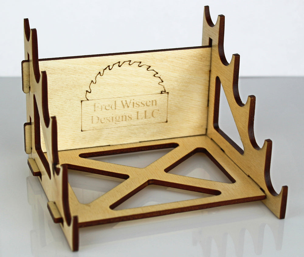 5 Pen Wooden Display Stand (NO LOGO)