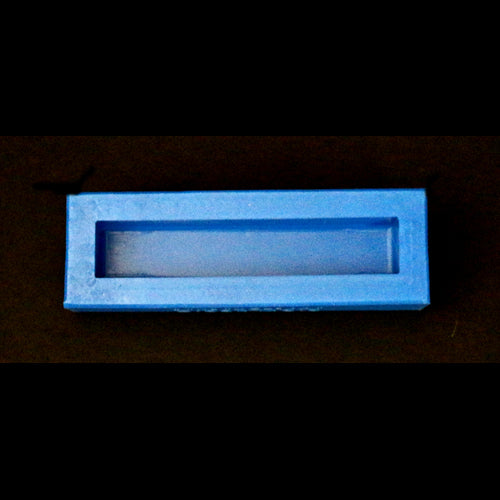 "1"" square x 5-1/4"" Single Blank Mold - Blue"