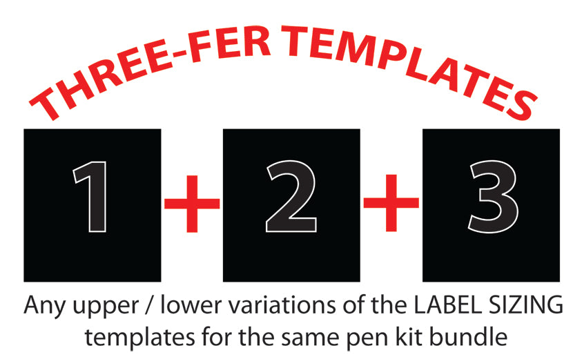 Three-Fer Label Sizing Template Bundles