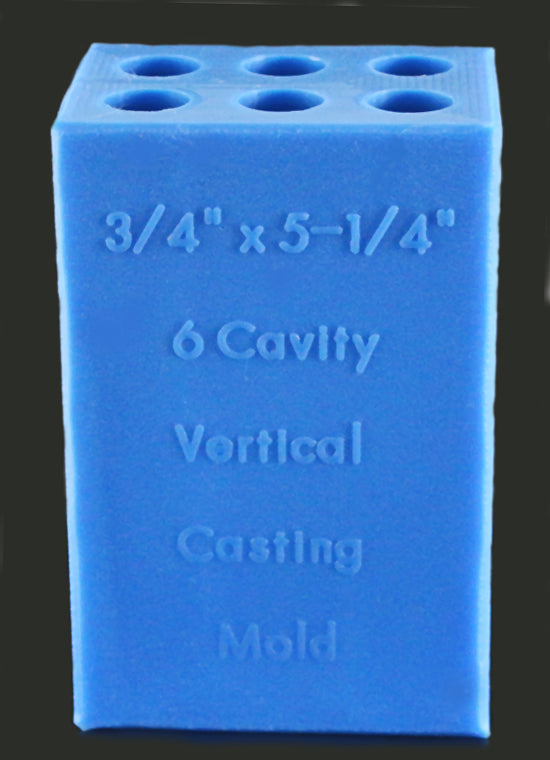 6 Blank Vertical Mold - Blue