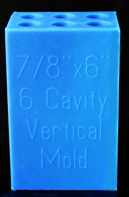 "7/8"" - 6 Blank Vertical Mold - Blue"