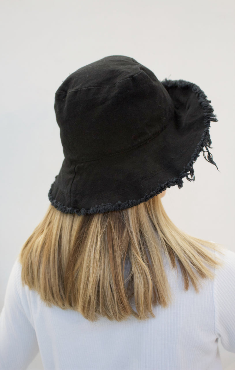 EVA Black up-cycled cotton hat