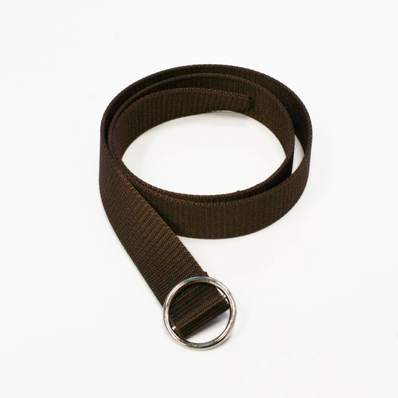 NINA Brown Fabric Ring Belt