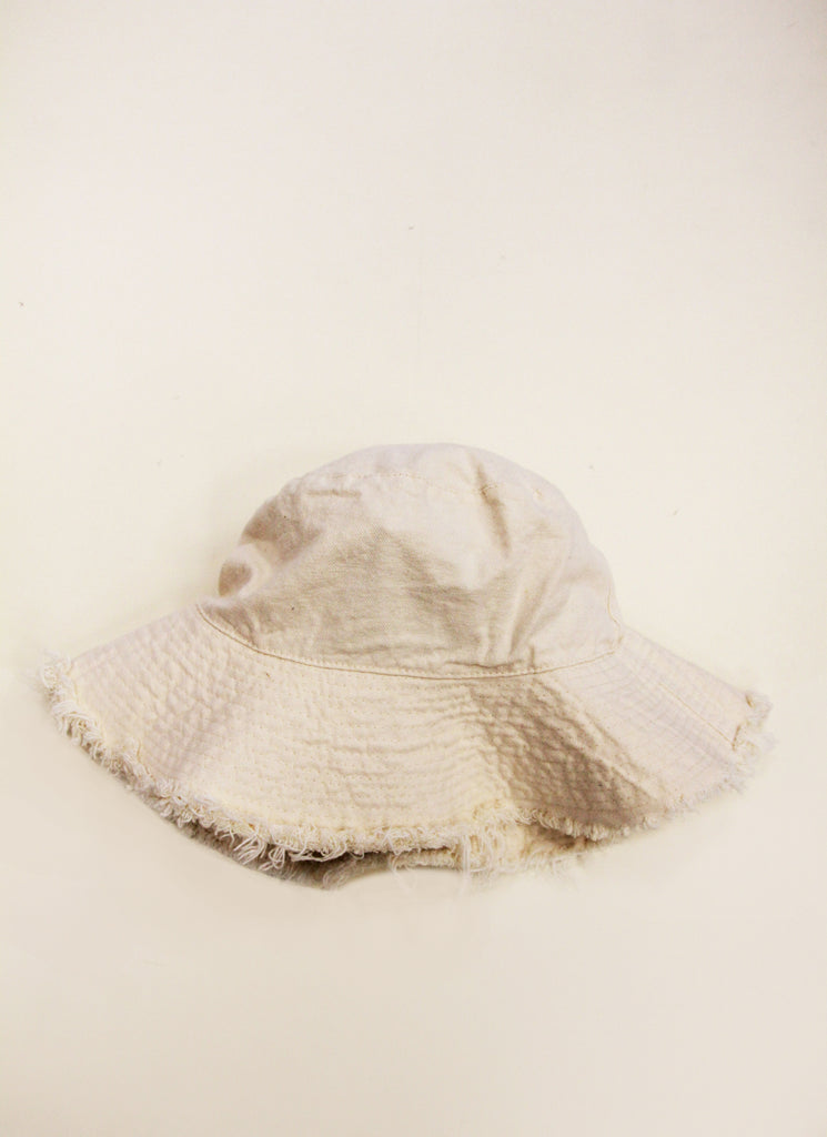EVA White up-cycled cotton hat