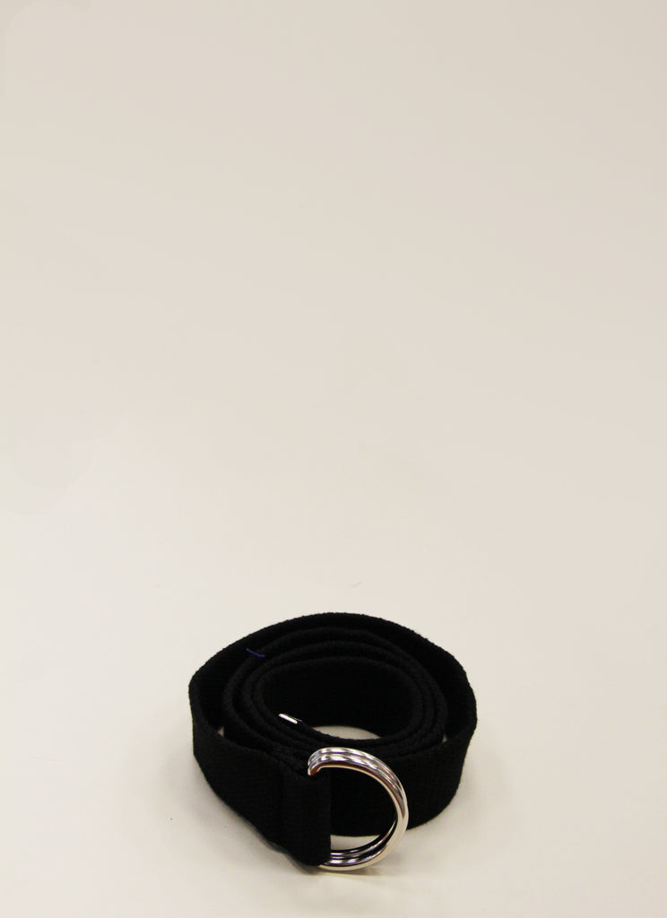 YLICO Black Fabric D-Ring Belt