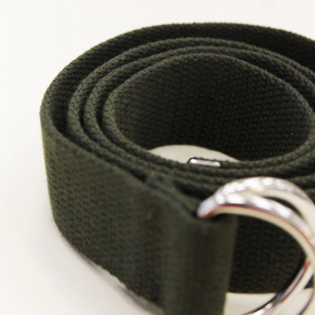 YLICO Khaki Fabric D-Ring Belt
