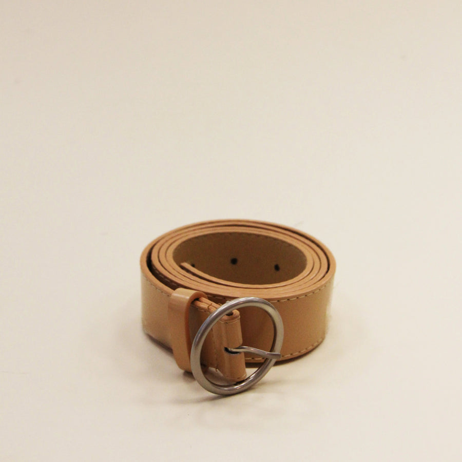 ZONI Beige Circle Ring Belt
