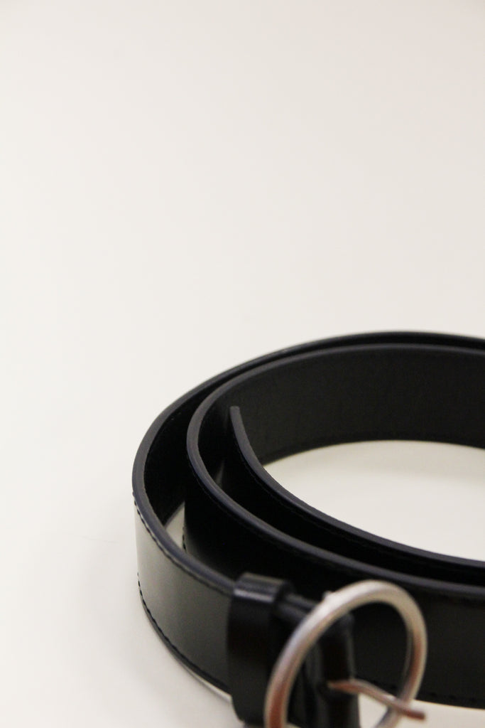 ZONI Black Circle Ring Belt