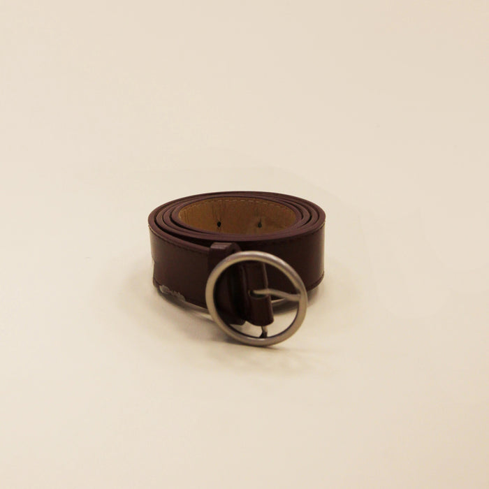 ZONI Burgundy Circle Ring Belt