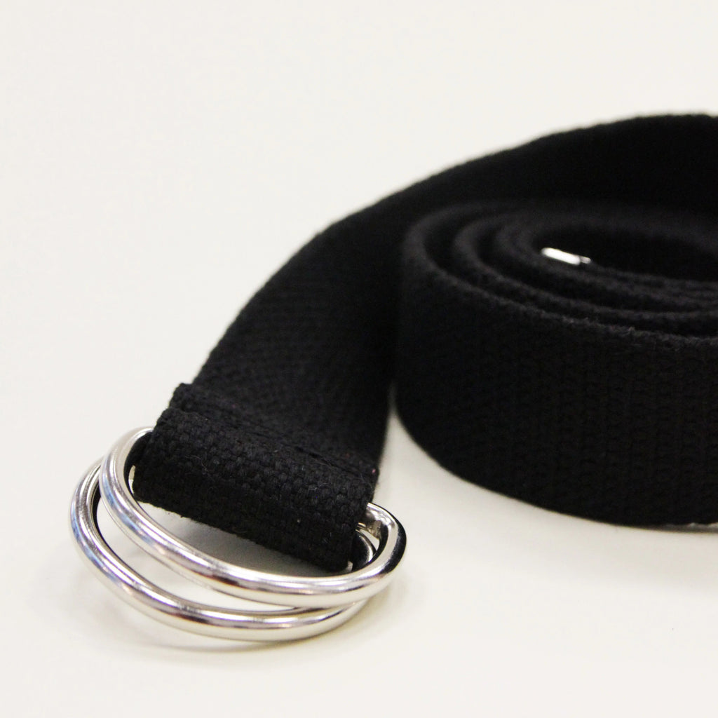 YLICO Black Fabric D-Ring Belt – Collection   Co d7d475d0bb5
