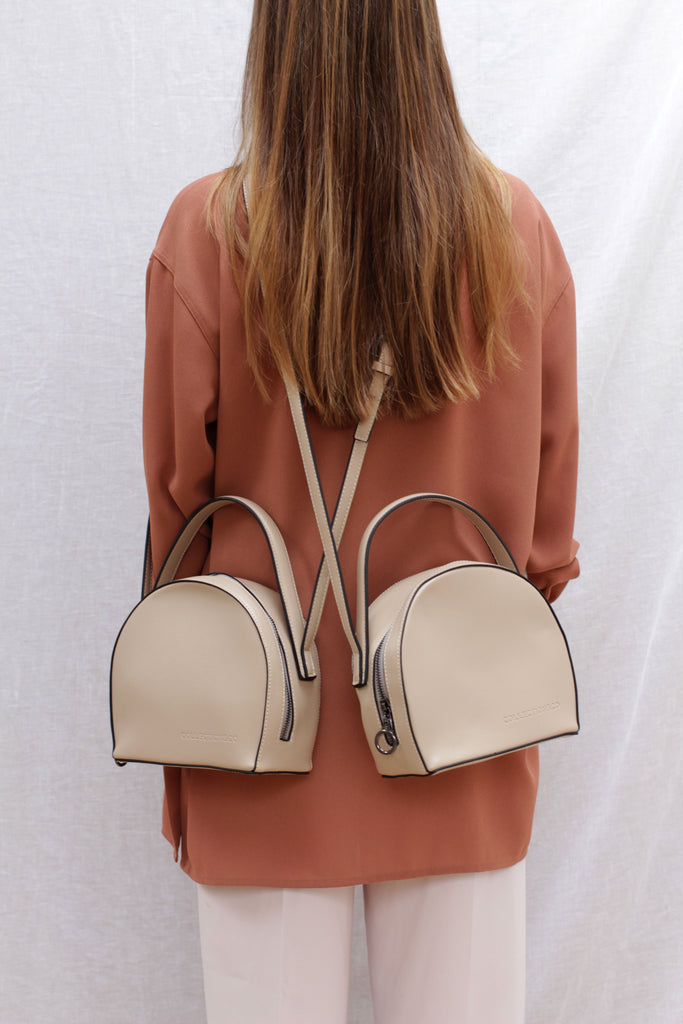 MESAIOS Beige Cross-Body Bag
