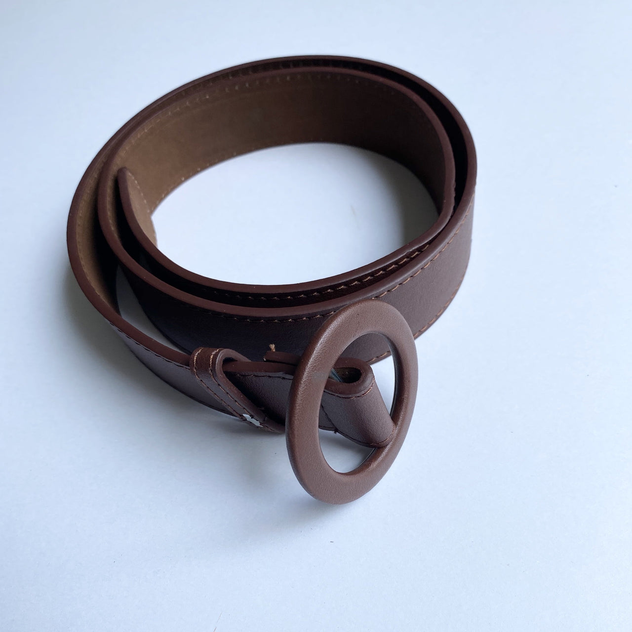 TIA Burgundy Circle Ring Belt