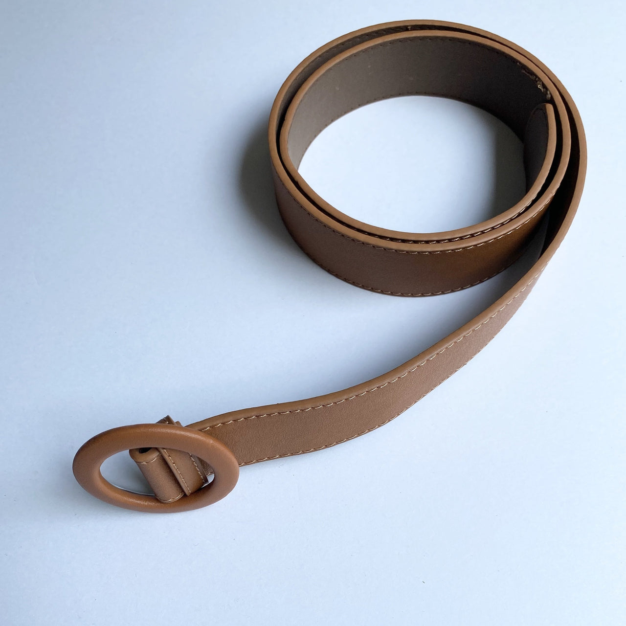 TIA Tan Circle Ring Belt