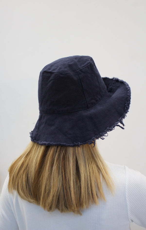 EVA Navy up-cycled cotton hat