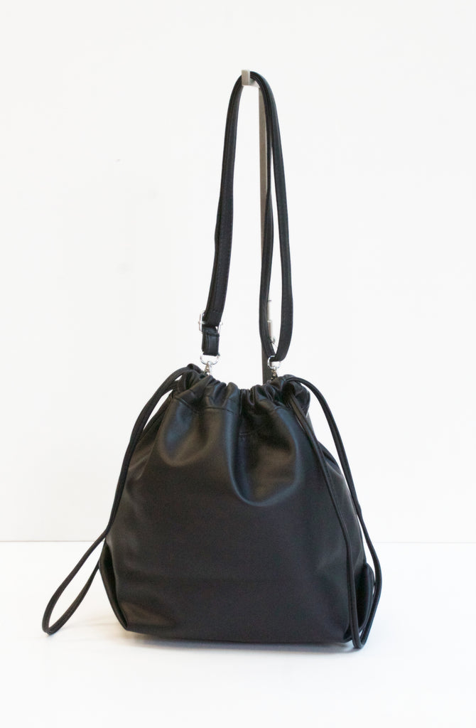 RONA Black Drawstring Bag