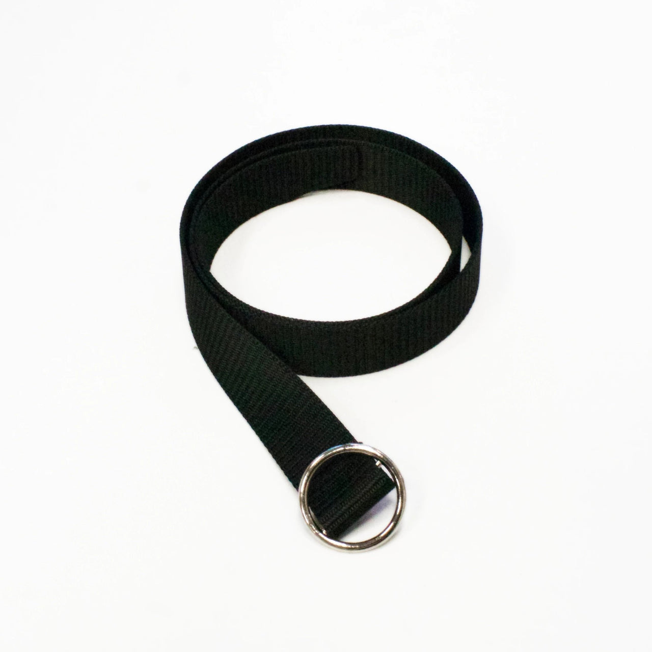 NINA Black Fabric Ring Belt