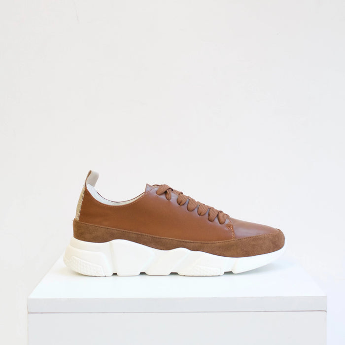 GIA Two-Tone Brown Sneaker