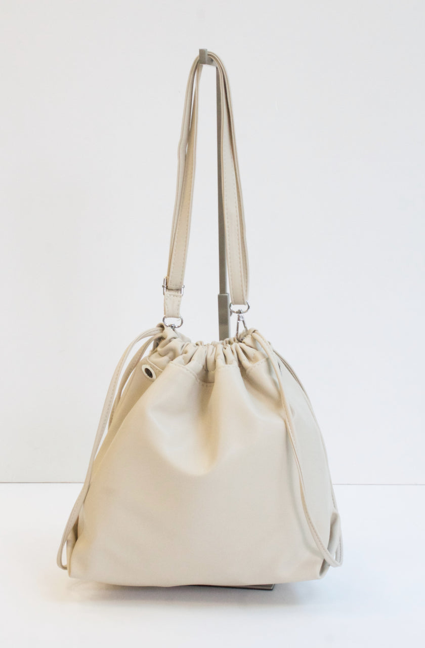 RONA Cream Drawstring Bag