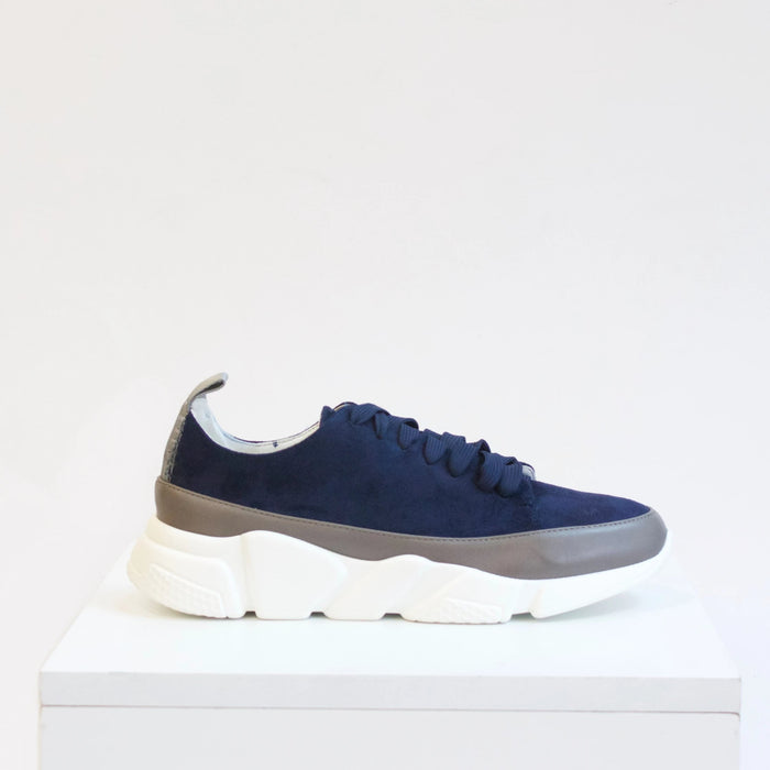 GIA Two-Tone Navy and Grey Sneaker