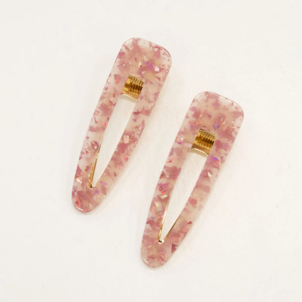 Set of Two Pink Hair Clips