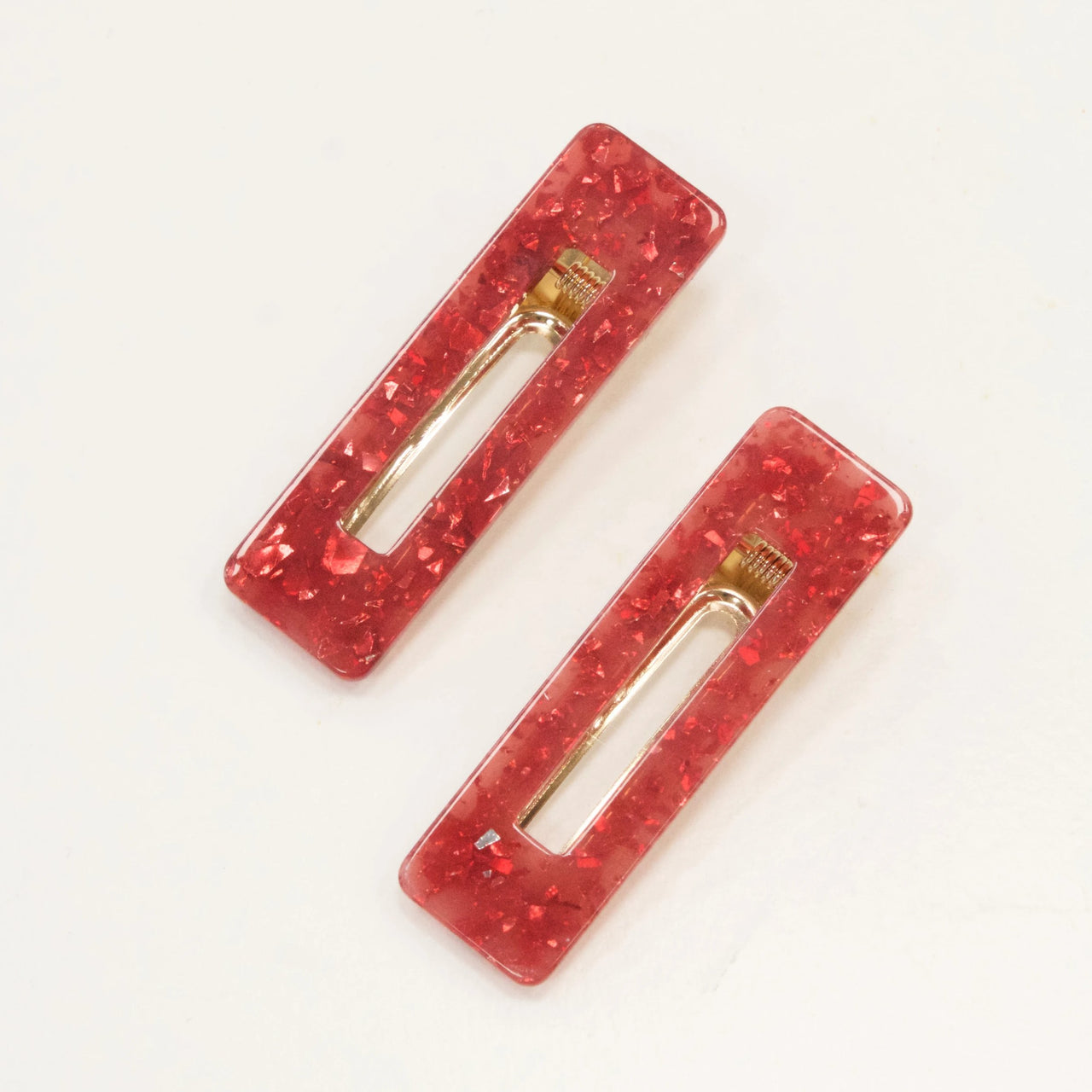Set of Two Raspberry Hair Clips