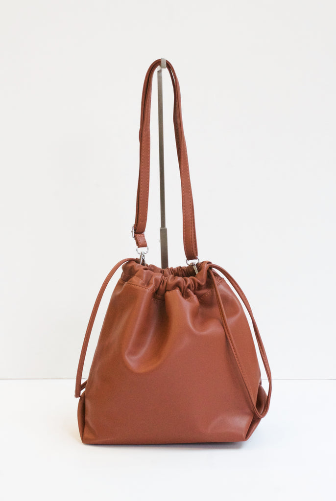 RONA Tan Drawstring Bag