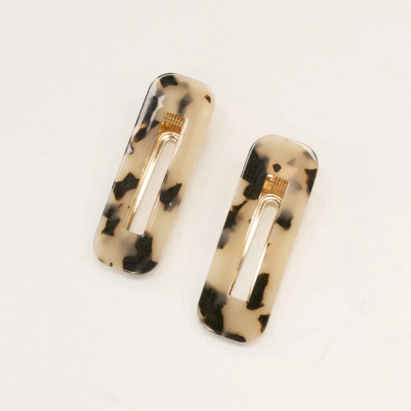 Set of Two Tortoiseshell Hair Clips